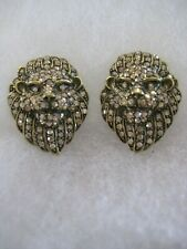 "HEIDI DAUS ""Lion"" (Crystal Golden Shadow) Omega-Pierced Earrings"