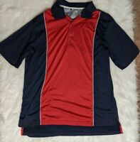 Adidas Climacool Size Medium Men's Golf Polo Shirt Red And Blue