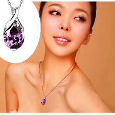 Crystal Heal Chakra Point Natural Stone Gemstone Amethyst Pendant For Necklace c