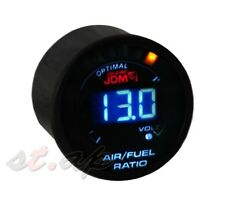 "2"" Diameter (52Mm) Jdm Air Fuel Ration Jdm Led Blue Gauge Smoke Tint Meter Car"