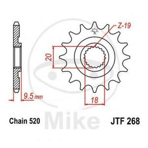 JT Sprockets Piñón 14 Dientes Paso 520 Conmutable Interior - Ø 18/20MM