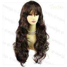 Wiwigs Beautiful Layered Medium Chestnut Brown Wavy Skin Top Ladies Wig