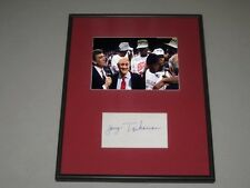 Jerry Tarkanian UNLV Rebels Coach Signed Framed Basketball Piece Index Photo COA