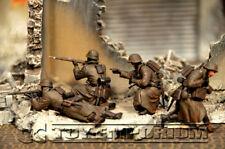"""Custom Built 1:35   WWII Deluxe Weathered   """"German Infantry""""   Soldier Set (4)"""