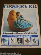 OBSERVER - 50 YEARS OF CHAIR DESIGN - JULY 19 1970