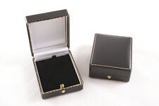 10 x Luxury Antique Style Leatherette Pendant/Drop Earring Boxes - Colour Choice
