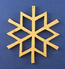 Snowflake Christmas Ornament - hand cut