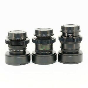 Standard lenses Set 37 58 85 Cine mod Full Frame Canon EF, Sony E, M4/3