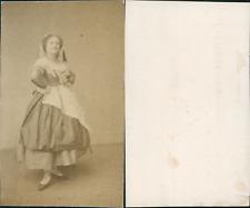 CDV Hortense Schneider, cantatrice et courtisane Vintage albumen CDV, carte de v