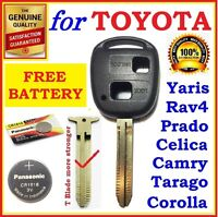 Toyota Remote Key Shell Case Prado Corolla Yaris RAV4 Echo Blank - 1x - Battery