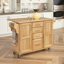 Kitchen Carts And Islands Appliance On Wheels Table Work Station Portable Wood