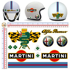 Adesivi casco alfa romeo martini sticker helmet tuning decal motorcycle 11 pz.