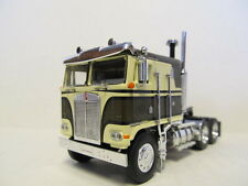 DCP 1/64 SCALE KENWORTH K100 FLAT TOP CAB OVER OLIVE GREEN & CREAM, BLACK STRIPE