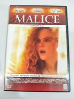 Malice Nicole Kidman Bill Pullman - DVD Region 2 Español Ingles - 3T