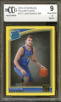 2018-19 Donruss Yellow Flood #177 Luka Doncic Rookie Card BGS BCCG 9 Near Mint+