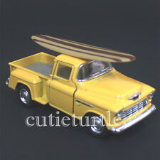 Kinsmart 1955 Chevy Stepside 3100 PickUp Truck 1:32 with Surfboard Yellow