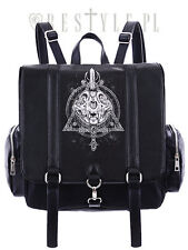 Restyle Occult Gothic Cat Skull Moon Punk Psychobilly Emo School Bag Backpack