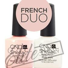 CND SHELLAC UV Color Coat 7.3ml - French Duo + FREE CND Foil Remover Wraps 10ct