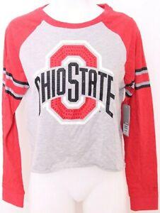 NEW Ohio State Buckeyes Colosseum Orton Hall Gray Bling LS Shirt Women's M