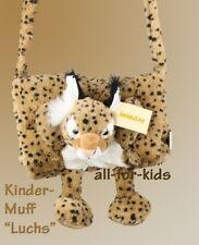 Luchs - kuscheliger Kinder-Muff, Handmuff + Tasche, Handschuhe 92,98,104,110,116