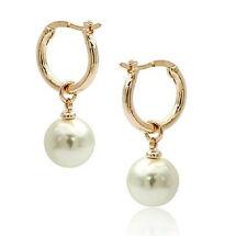 Beautiful 14K Solid Gold Marke AAA 10-11MM South Sea white Pearl Earring