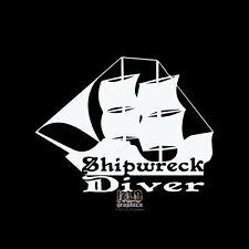 SHIPWRECK DIVER Decal Sticker Hunt Hunter Wreck Diving Explorer Car Truck Boat