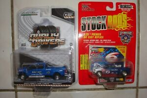 (2)Racing Champions/Greenlight { '99 & '19 FORD F-350 DULLAY NASCAR's }Editions