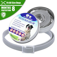 Dogs Flea and Tick Collar 8 Months Protection for Pet Dogs Cats Insect Repellent