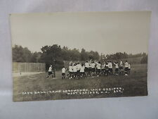 VINTAGE RPPC GIRLS PLAYING CAGE BALL CAMP ADEAWONDA LAKE OSSIPEE NEW HAMPSHIRE
