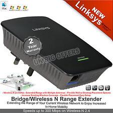 LINKSYS RE1000-UK  300Mbps WIRELESS-N RANGE EXTENDER WiFi ETHERNET CISCO