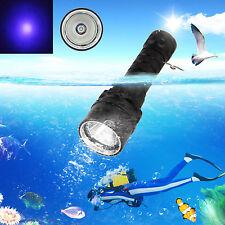 Underwater 100m 3x XPE UV LED Scuba Diving Flashlight Torch Light 10W 395-492nm