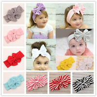 Baby Cotton Big Bow Flower Headband Infant Newborn Girl Toddler Hair Accessory