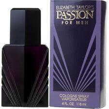 Elizabeth Taylor Passion Cologne Men's Perfume Spray 4 oz 118 ml New Box
