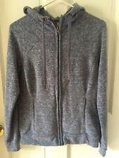 "Kiwi Kate Women's Blue size Med Soft full zip Hoodie Jacket 36"" Chest Blue"