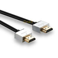 5M FLAT HDMI CABLE HIGH SPEED WITH ETHERNET V1.4 FULL HD 4K 3D ARC GOLD