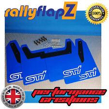 RallyflapZ Subaru Impreza Blobeye (03-05) Bavettes WR bleu STI blanc 4 mm PVC