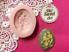 Romantic love Brooch cameo silicone mold fondant cake decorating cupcake FDA