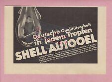 SHELL, Werbung 1934, Shell Auto-Öl