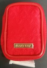 1 New Mary Kay Red Heart Mini Cosmetic Bag/lipstick or lipgloss case w/ Mirror