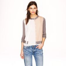$198 J.CREW COLLECTION XS Featherweight Cashmere Cardigan In Colorblock