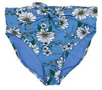 Speedo Bikini Bottom XL Bathing Suit Aqua Blue Brown Floral NEW NWT FREE SHIP