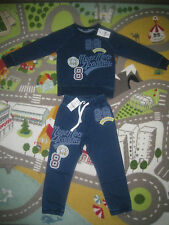 Boys Next Indigo Monkey Badged Crew Jumper Joggers outfit BNWT age 4-5 years
