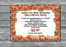 Personalised Pack of 12 Halloween / Birthday Party Invitation Style 3