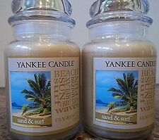 Yankee Candle   Sand & Surf    22 oz.  Lot of 2 NEW  Candles Free Shipping