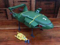 Thunderbirds Are Go Supersize Thunderbird 2 and 4 w/ Mini Figures (C)