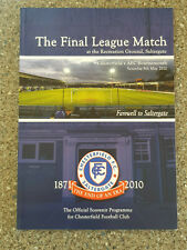 More details for 2010 - chesterfield v bournemouth programme - last league match at saltergate