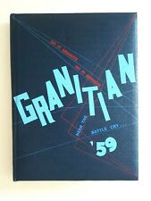 1959 Granite High Scool Yearbook Granitian Graduation