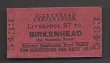 Ticket Liverpool 97 to Birkenhead Woodside Railway Passenger Ferry Edmondson