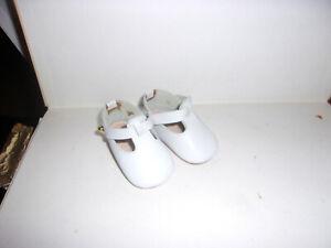 Nostalgie-Leder-Schuhe-Puppe Gr. ca  48-50-altweiss