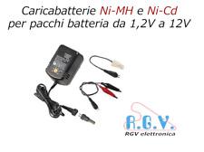 Caricabatterie per pile ricaricabili NiMH NiCd stilo ministilo torce D Sub C 12V